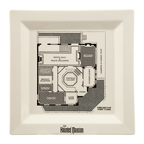 Your wdw store disney dinner plate the haunted mansion for Haunted mansion blueprints
