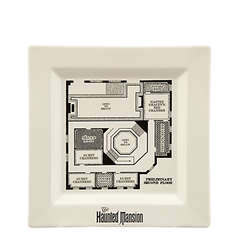 Disney dessert plate the haunted mansion blueprint for Haunted mansion blueprints