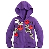 Disney Girls Hoodie - Jack Skellington Faces - Purple