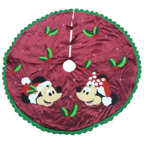 Disney Christmas Holiday Tree Skirt - Mickey and Minnie ...