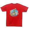 Disney ADULT Shirt - Happy Holidays 2014 - Red Short Sleeve