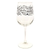 Disney Wine Glass - Be Our Guest - Stemmed 18 oz. - Clear Stem