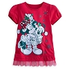Disney Girls Shirt - Santa Mickey and Minnie