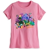Disney Ladies Shirt - Storybook Mickey and Friends - Pink