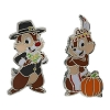 Disney Thanksgiving Pin - Chip and Dale - Pilgrim & Indian