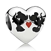 Disney PANDORA Charm - Mickey and Minnie Kiss
