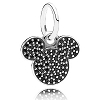 Disney PANDORA Charm - Sparkling Mickey Icon Dangle