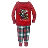 Disney Baby Christmas Pajamas  -  Santa Mickey Plaid