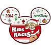 Disney Auto Magnet - 2014 runDisney Kids Races - Santa Duffy Bear