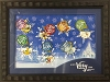 Disney Very Merry Christmas Party Pin 2014 Framed Pin Set Tinker Bell