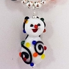 Disney Necklace - Silver with Glass Pendant - Christmas Lights Snowman