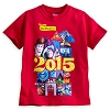 Disney Boys Shirt - 2015 Pixar Pals Tee - Walt Disney World - Red
