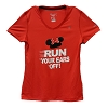 Disney LADIES Shirt - RunDisney Run Your Ears Off - Minnie Mouse Red