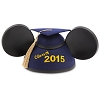 Disney Hat - Mickey Mouse Ears Grad Hat - Graduation Class of 2015