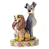Disney Traditions by Jim Shore Figurine - Lady & Tramp 60th Anniv.