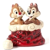 Disney Figurine - Traditions by Jim Shore - Chip n' Dale in Santas Hat