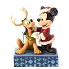 Disney Figurine - Traditions by Jim Shore - Santa Mickey with Pluto