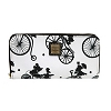 Disney Dooney & Bourke Bag - Flower & Garden Bicycles - Wallet