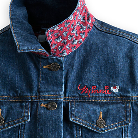 Disney Ladies Jacket Minnie Mouse Denim Jacket