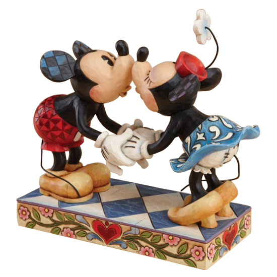Disney Figurine Traditions By Jim Shore Mickey Kissing