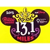 Disney Auto Magnet - WDW Mickey Ears Icon - Princess 1/2 Marathon