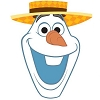 Disney Antenna Topper - Olaf Summer Fun wearing Beach Comber Hat