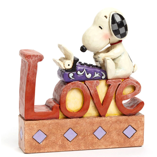 ... - Disney Figurine - Traditions by Jim Shore - Snoopy LOVE Word Fig