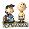 Disney Figurine - Traditions by Jim Shore - Football Lucy & Charlie Brown