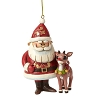 Traditions by Jim Shore Ornament - Santa & Rudolph 50th