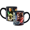 Disney Coffee Mug - Star Wars Epic Saga Yoda - Darth Vader Storm Trooper - Black