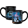 Disney Coffee Mug - Star Wars Saber Fight Luke - Skywalker Darth Vader - Black