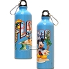 Disney Florida Postcard Mickey Goofy - Donald Aluminum Water Bottle