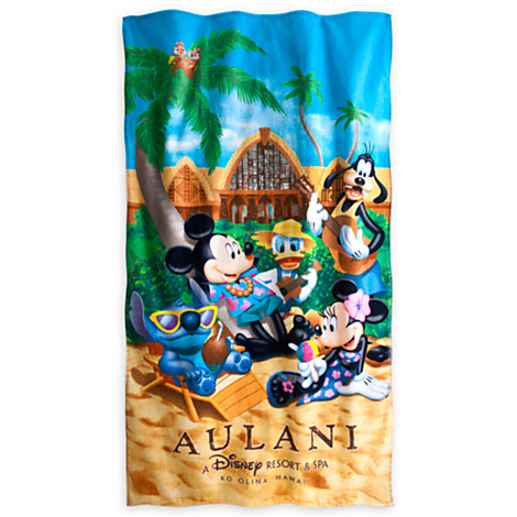 Your WDW Store Disney Beach Towel Aulani Mickey Mouse and Friends