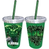 Disney Thermal Tumbler with Straw - Marvel Hulk Straw - Florida Namedrop
