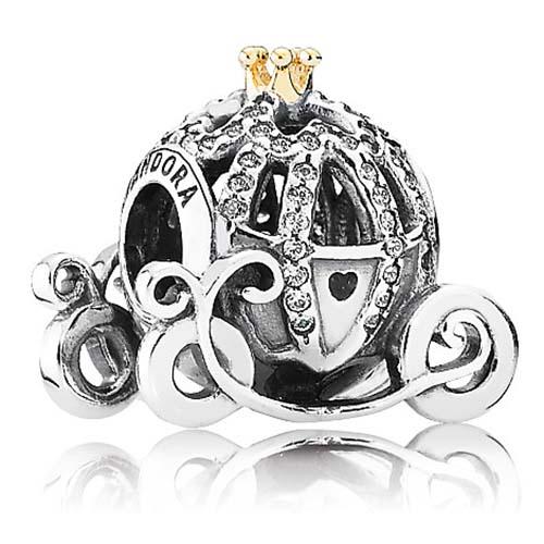 Disney Pandora Charm Cinderella Pumpkin Coach Charm
