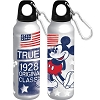 Disney Water Bottle - True American Classic Mickey Mouse Aluminum - Wide Mouth - Silver