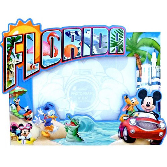 disney picture frame 4 x 6 mickey gang postcard moments - Disney Frames