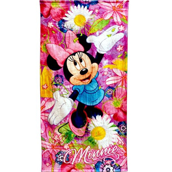 your wdw store disney beach towel minnie mouse flower. Black Bedroom Furniture Sets. Home Design Ideas
