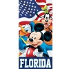 Disney Beach Towel - Flag Friends - Mickey Goofy Donald