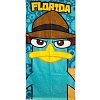 Disney Beach Towel - Big Face Perry Phineas & Ferb