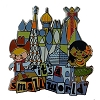 Disney It's a Small World Pin - Cowboy & Hula Dancer Logo