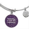 Disney Alex and Ani Charm Bracelet - Believing the Beginning - Silver