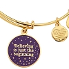 Disney Alex and Ani Charm Bracelet - Believing the Beginning - Gold