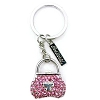 SeaWorld Keychain Keyring - Pink Whale Tail Pavé Purse