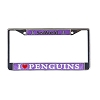 SeaWorld License Plate Frame - I Love Penguins Glitter