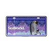SeaWorld License Plate - Penguin Glitter