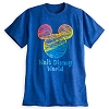 Disney ADULT Shirt - Mickey Mouse Icon Rainbow Tee - Blue