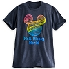 Disney ADULT Shirt - Mickey Mouse Icon Rainbow Tee - Gray