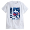 Disney Adult Shirt - Americana Mickey Mouse Tee for Adults
