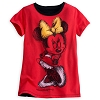 Disney Girls Shirt - Minnie Mouse Gold Bow Tee for Girls